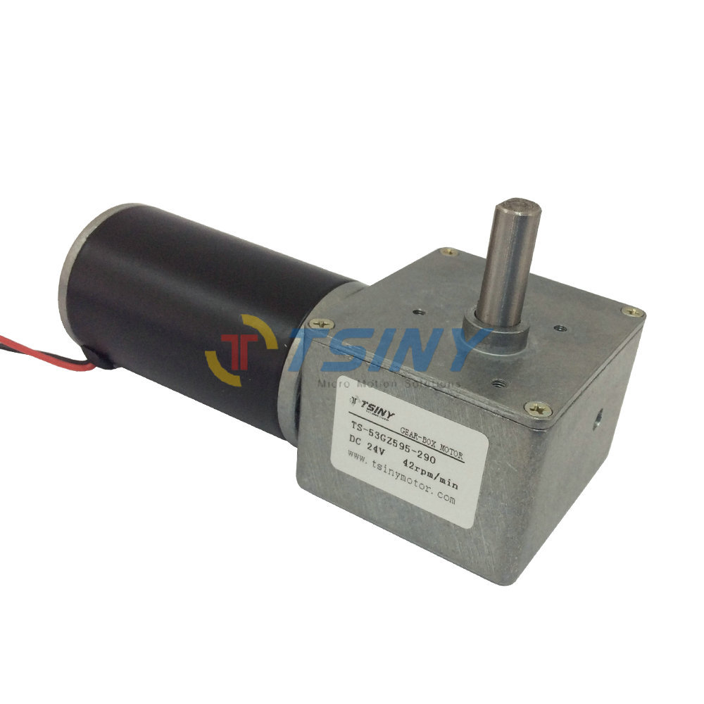 24V DC 42RPM DC Worm Gear Motor Variable High Torque Gear Box Electric Motor New 24v dc worm gear motor n20 dc gear motor miniature high torque electric gear box motor