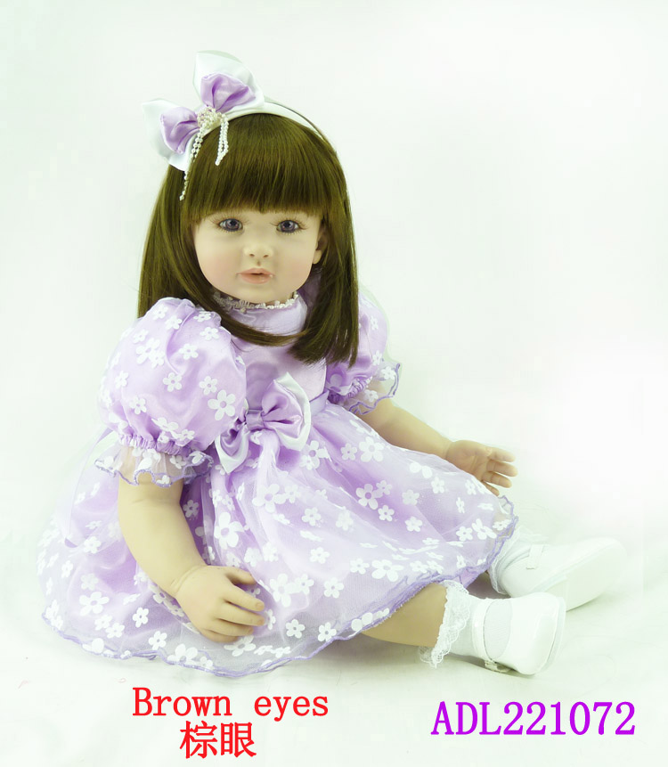 The new silicone reborn baby dolls accompany lifelike cute princess toddler doll kid popular christmas new year boutique gifts the cute silicone reborn baby dolls accompany sleeping lifelike cute princess toddler doll kid popular christmas new year gifts