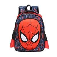 1-2 lớp 3d túi mới trường tiểu học trẻ em trường cho nam ba lô Nhân vật cậu bé Spiderman Book Bag Kids Satchel Knapsack Mochila