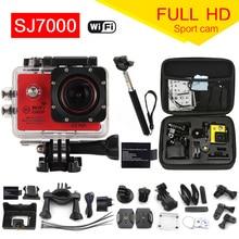 Action Camera 1080P WiFi go pro Sport camera extreme Diving Helmet Waterproof mini Cam+monopod+bag 7000