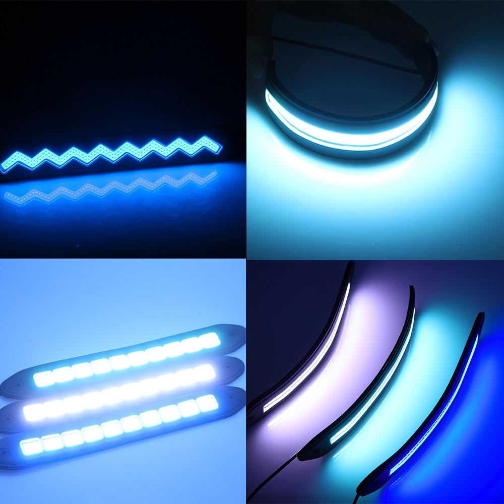 2 Pcs COB LED DRL Daytime Running Light Waterproof Lampu Waktu Kerja - Lampu mobil - Foto 5