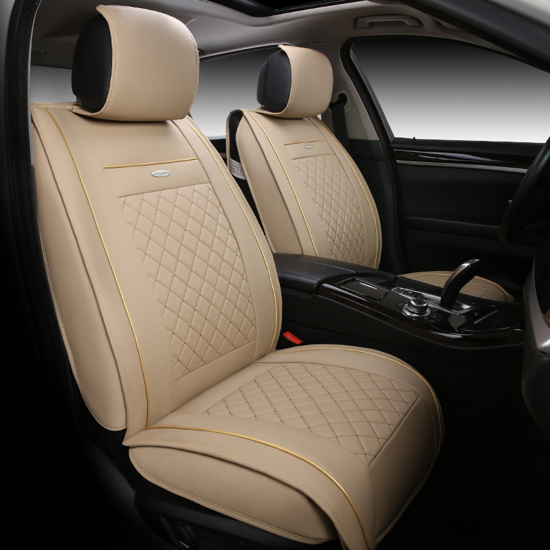 High quality Leather Universal Car Seat Covers For Audi A6L R8 Q3 Q5 Q7 S4 Quattro A1 A2 A3 A4 A6 A8 car accessories car-styling new 3d styling car seat cover sports styling car covers ice silk car cushion for bmw audi a3 a4 a6 q7 q5 honda ford crv sedan