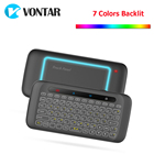 VONTAR 2.4GHz Air Mouse Wireless Keyboard with Backlight and touchpad Learning Function for Android TV Box X96 mini X92 X96