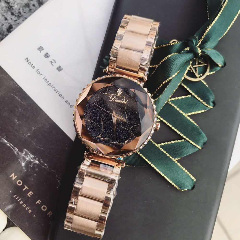 Sexual Cold Wind Caramel Women Full Steel Watches Anti Fading Bracelet Watch Quartz Cool Lightning Crystal Wrist watch FacetedSexual Cold Wind Caramel Women Full Steel Watches Anti Fading Bracelet Watch Quartz Cool Lightning Crystal Wrist watch Faceted