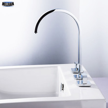 High Quality Double Handle Bathroom Faucet Brass Widespread Deck Mount Sink Mixer Tap Manufacturer Retail