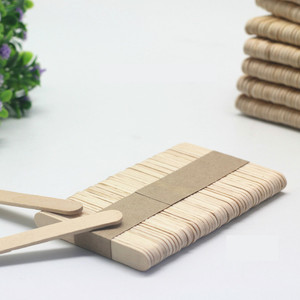 Image 3 - 50pcs Wooden Popsicle Stick Kids Hand Crafts Art Ice Cream Lolly Cake DIY Making Funny Gift Baby Shower Birthday Decor Supplies
