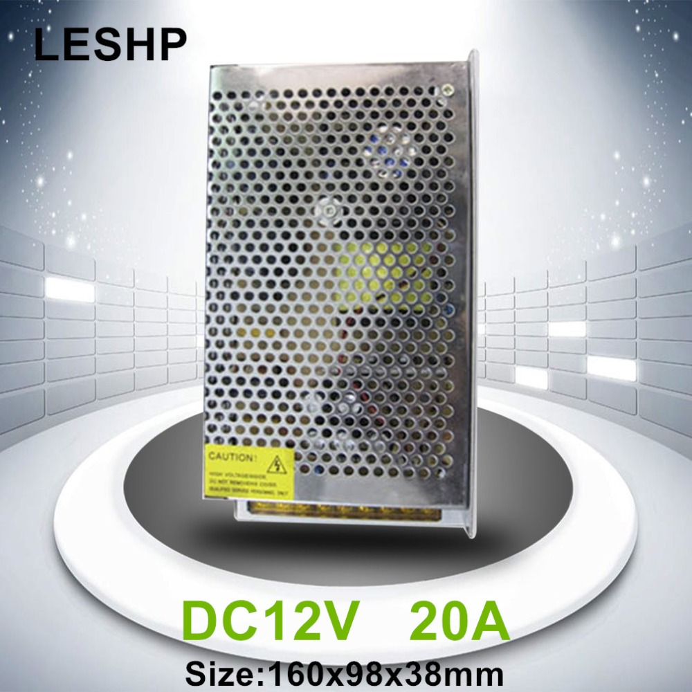 LESHP Stainless Steel Transformer Switch Power Supply Adapter Driver Suitable for Monitor Cameras Professional12V Smart Switch