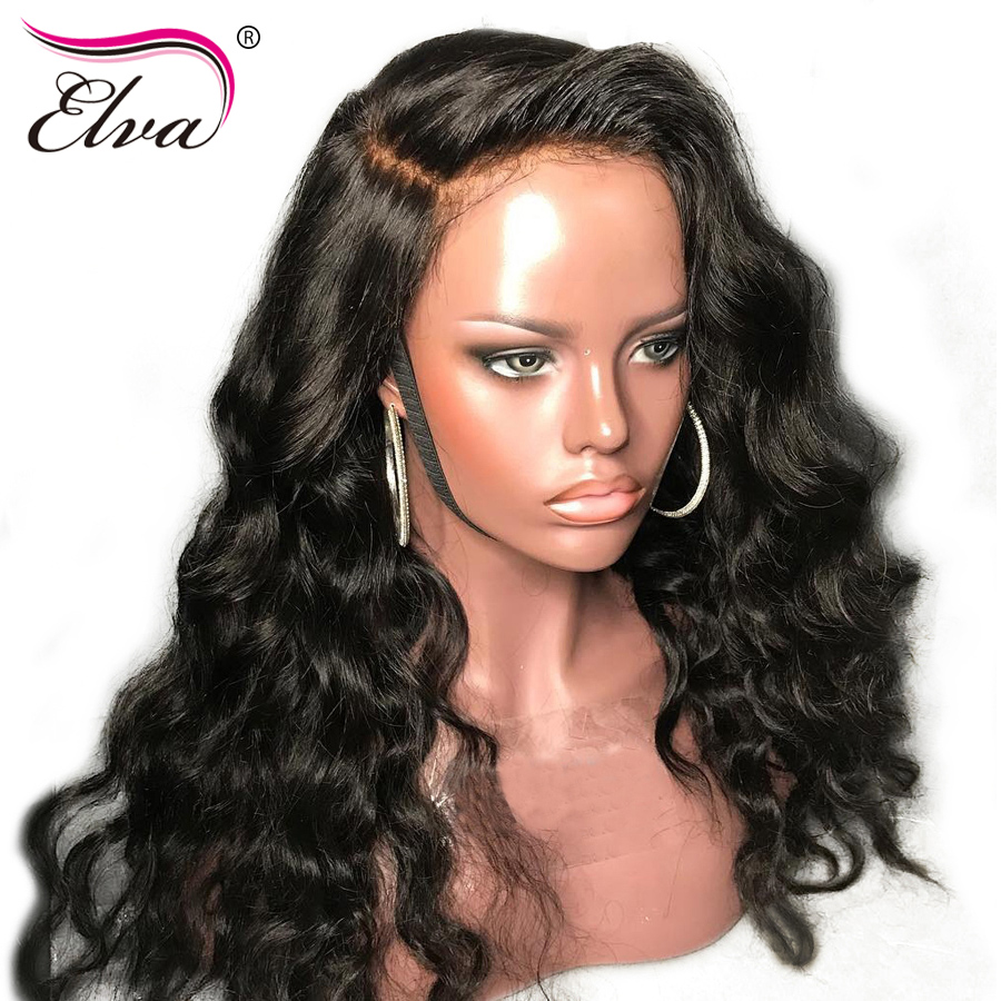 Silk Top Lace Front Human Hair Wigs Silk Base Brazilian Lace Front Wig Pre Plucked With Baby Hair Elva Silk Base Wig Remy Hair