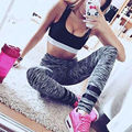 Women Leggings High Waist Mesh Fitness Trousers Printed Leggings Fitness Stretch Elastic Leggings 19