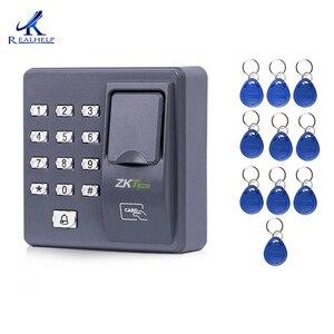 Image 1 - Cyfrowy elektryczny czytnik RFID finger kod skanera system biometryczny system kontroli dostępu z czytnikiem linii papilarnych X6 + 10 sztuk piloty