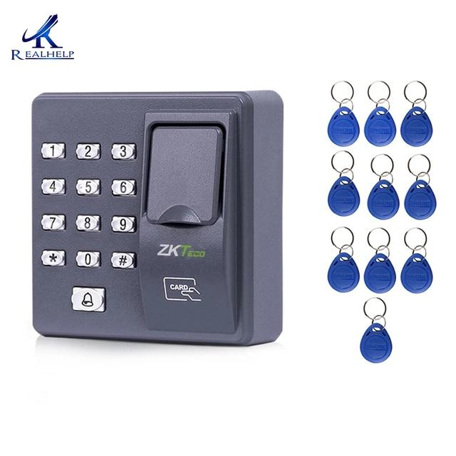 Cyfrowy elektryczny czytnik RFID finger kod skanera system biometryczny system kontroli dostępu z czytnikiem linii papilarnych X6 + 10 sztuk piloty