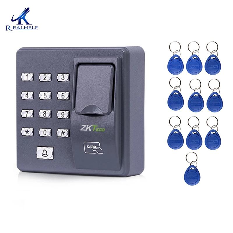 Digital elétrica dedo leitor de código scanner de RFID sistema de reconhecimento biométrico de impressão digital sistema de controle de acesso X6 + 10 pcs keyfobs