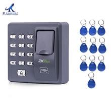 Цифровой Электрический RFID считыватель сканер пальца код системы Биометрического распознавания отпечатков пальцев access control system X6 + 10 шт. брелков