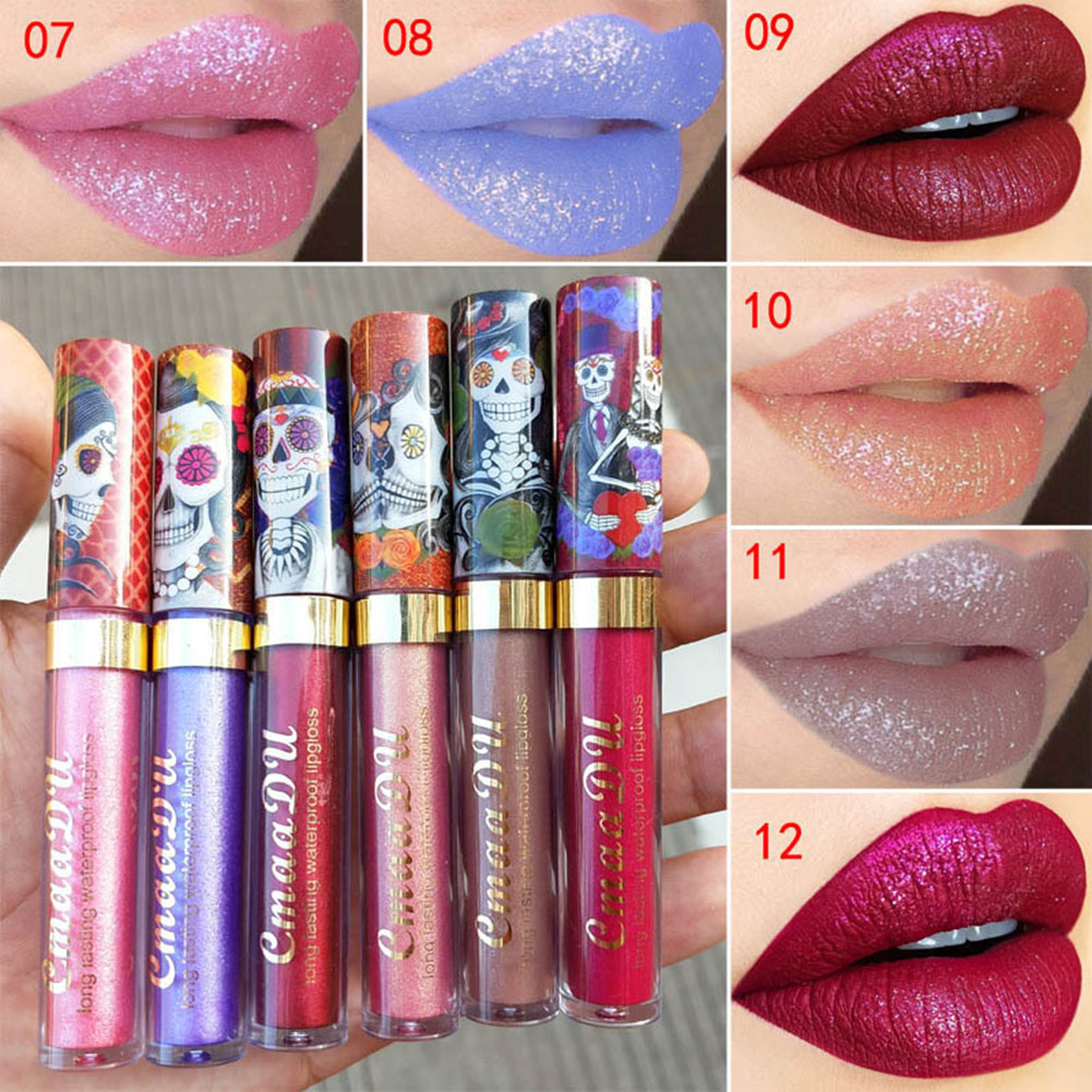 Waterproof Metallic Matte Liquid Lipstick Glitter Lip Gloss Non-stick Cup Makeup sleek makeup губная помада lip v i p lipstick 3 6 гр 9 оттенков губная помада lip v i p lipstick 3 6 гр attitude тон 1012 3 6 гр