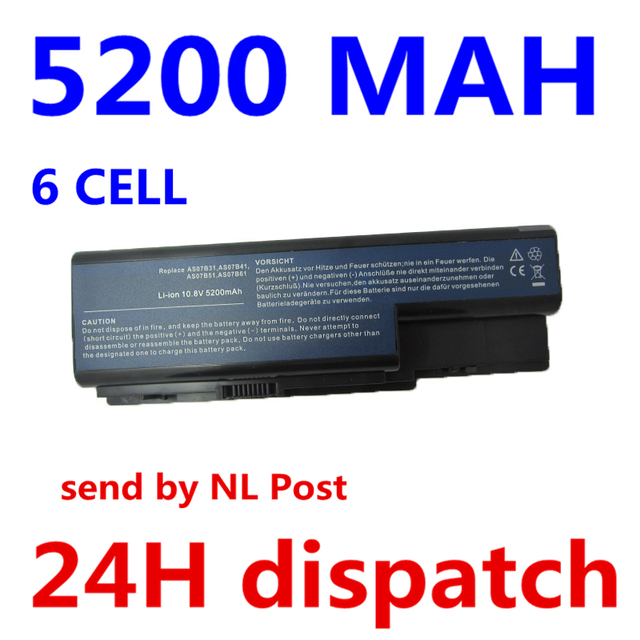 5200MAH laptop battery for ACER Aspire 5910G 5920 5920G 5930 5930G 5935 5940 5940G 5942 5942G 6530 6530G 6920