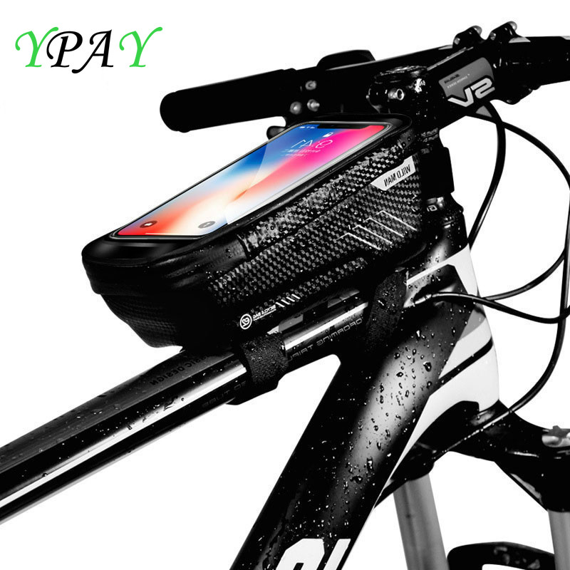 YPAY <font><b>Bike</b></font> Bag 6.2 inch MTB <font><b>Phone</b></font> <font><b>Holder</b></font> Universal Rainproof Waterproof MTB Front Bag Mobile <font><b>Phone</b></font> <font><b>Holder</b></font> For iPhone X <font><b>Samsung</b></font> <font><b>S9</b></font> image