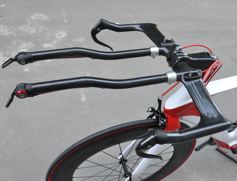 Carbon Road Bike TT Time Trial Triathlon aero bar Bullhorn Handlebar aerobar Set