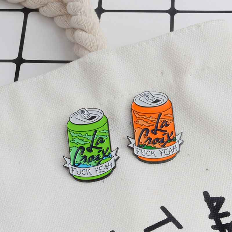 Pop-top criativo pode moldar pino de esmalte lapela distintivo broche denim casaco pino camisa crachá presentes de natal para amigo pano acessórios