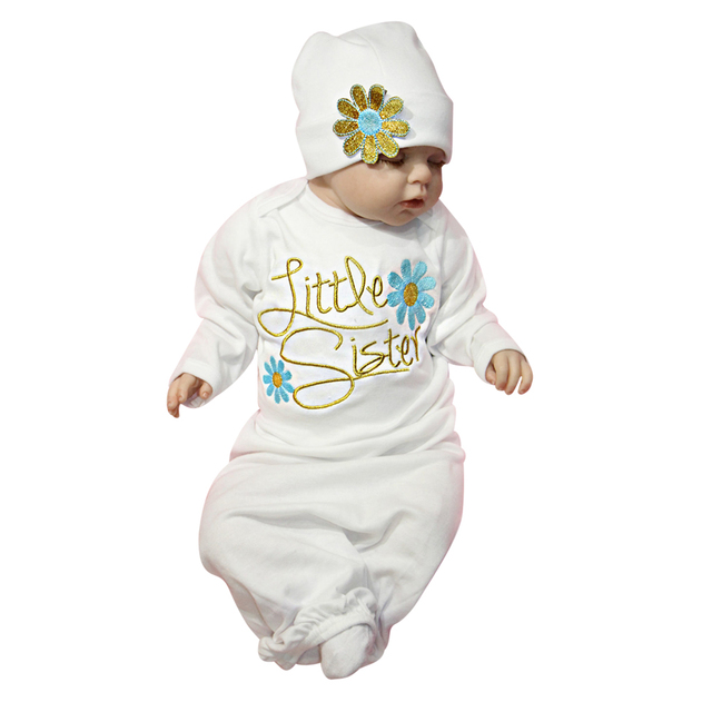 Newborn Baby Girl Clothes Infant Flower Pure Cotton Long Sleeve ...