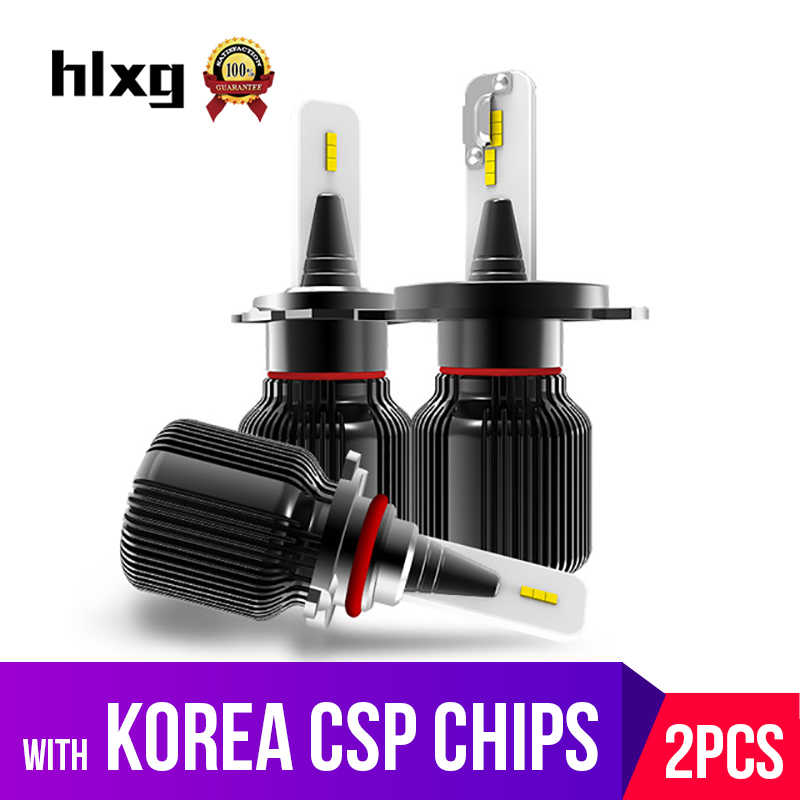 hlxg With Korea CSP Chips H4 H7 led lamp for Car auto H8 h11 led fog light 9005 HB3 HB4 Diodes Hi Lo Beam Bulb 6000K 8000LM 12V