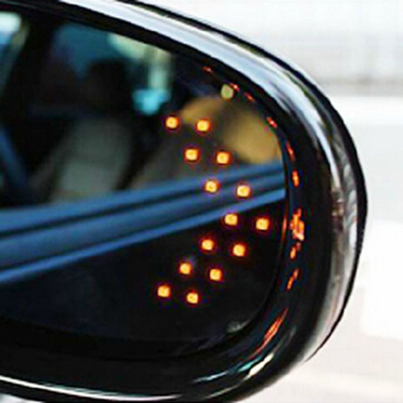 Car styling 2PCS 14 SMD LED Arrow Panels Light Car Side Mirror Turn Signal/Indicator Light/Car led/ Parking EA10219