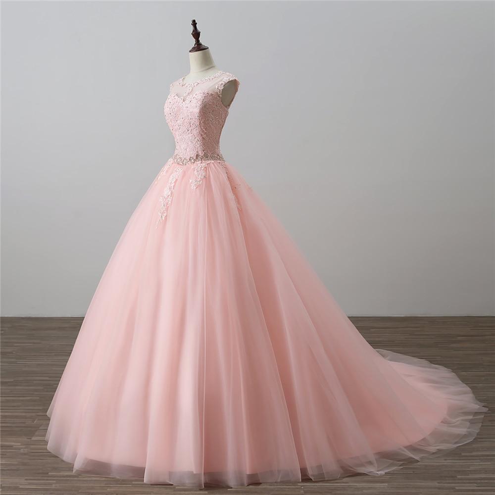 Bealegantom Nowe sukienki Quinceanera Scoop 2018 Suknia balowa z - Suknie specjalne okazje - Zdjęcie 2