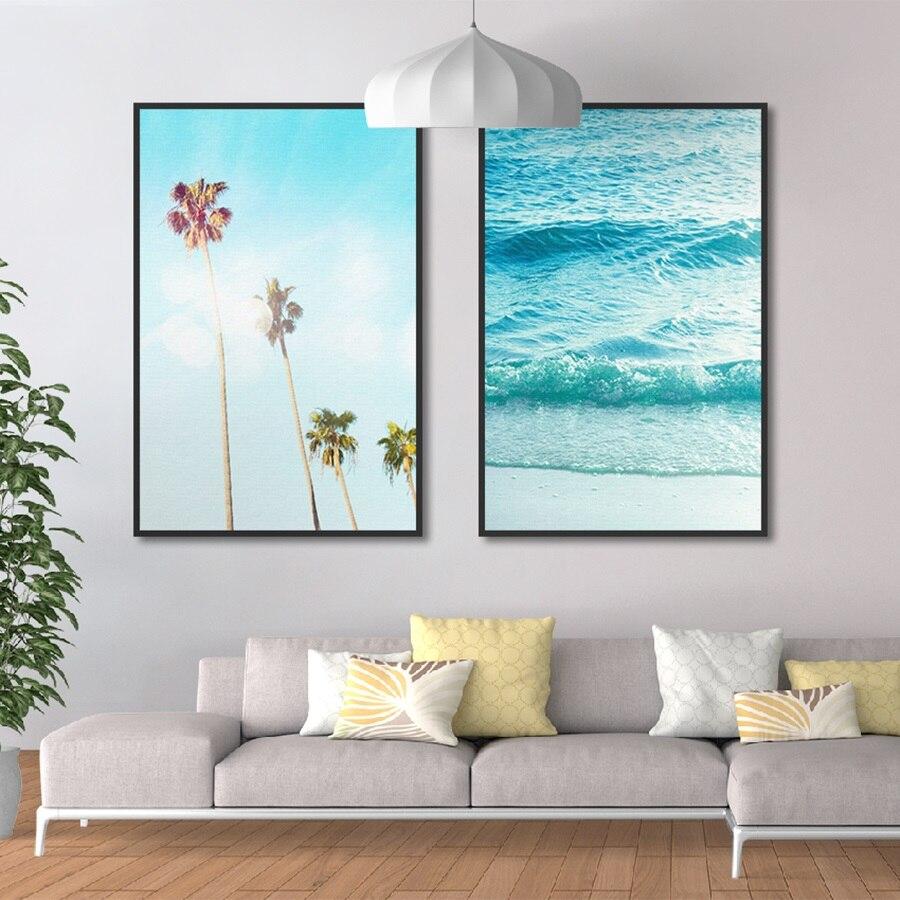 Us 427 46 Offnordic Dłoni Surf Dekoracje Na Płótnie Sztuki Plakaty Wydruki Na Płótnie Oprawione Malarstwo Obrazy Na ścianę Do Dekoracji Domu W