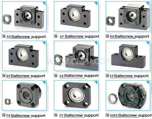 BK25 Fixed End Ballscrew Support w/ Locknut fixed support l