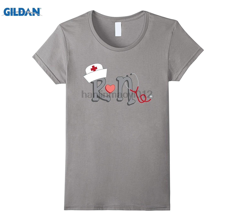 GILDAN Cool Registered Nurse RN T-Shirt National Nurses Day Gifts Fun casual T-shirt Dress female T-shirt