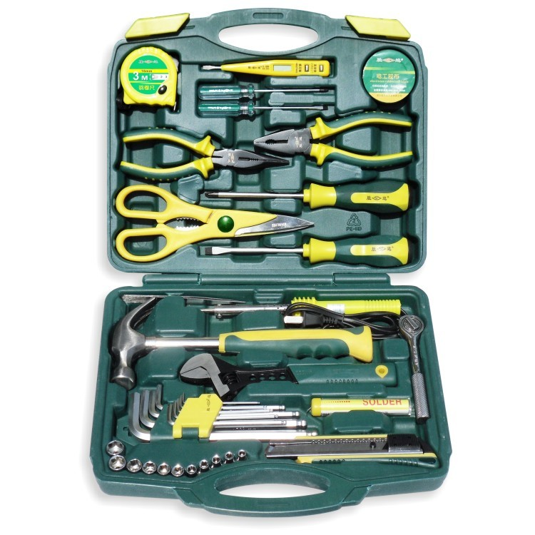 где купить Thrity-eight pieces of household tool suite combination Hardware vehicle multi-functional toolbox дешево
