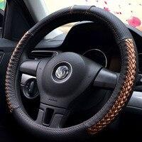 38cm PU Leather Car Steering Wheel Cover For Citroen c elysee ds3 Fiat 500 500L 500X Panda kia Optima 2017 SW