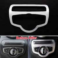 Auto Headlight Switch Button Cover Trim Decor Frame Car Styling Sticker Accessory For Benz C Class W205 180 200 C260 GLC 2014 15