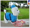 Новый Электрический игрушечная собака Электрический синий ткань пудель кукла ходьба, лай, виляя хвостом подарок около 30 см
