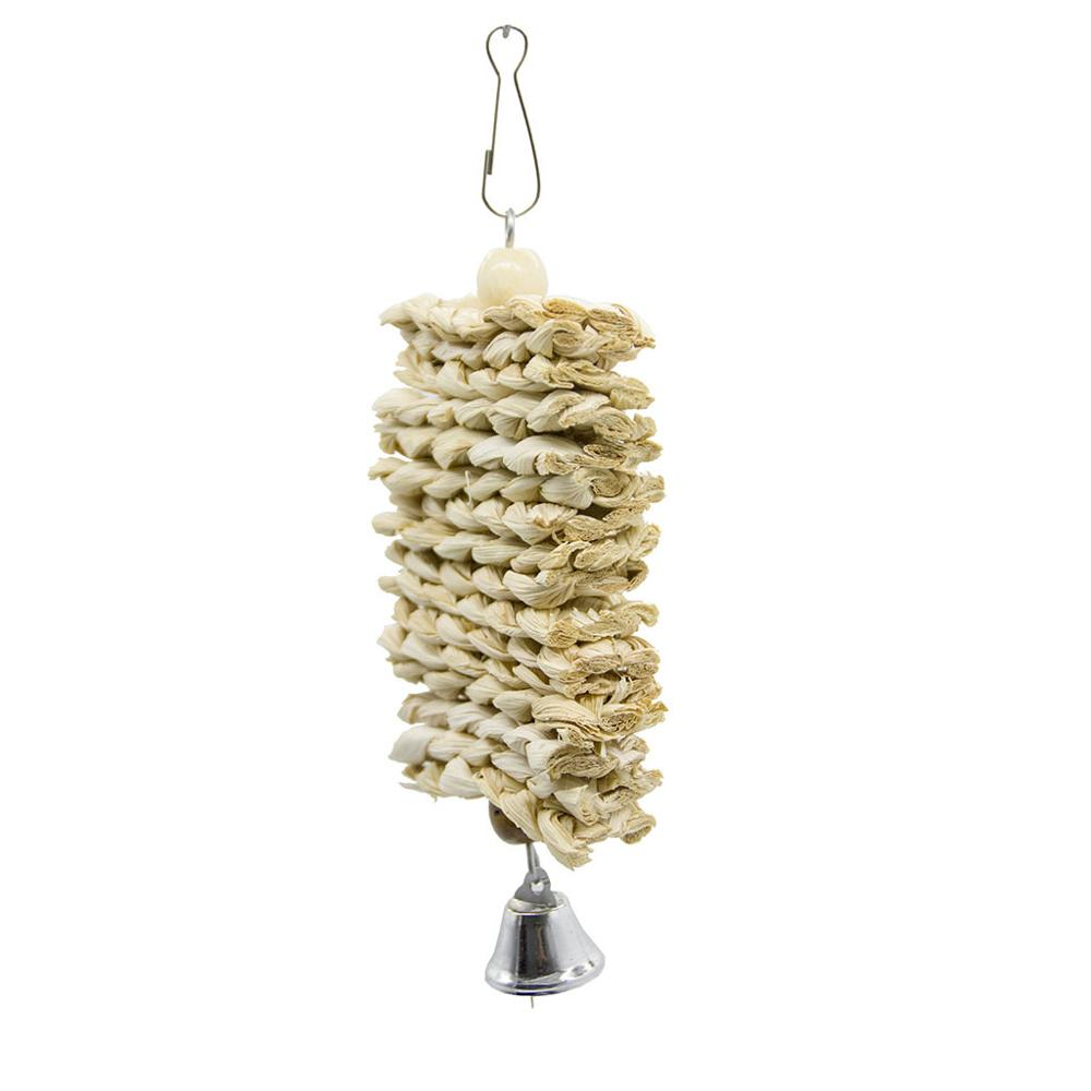 Bird Toys Parrot Stand Perch For Parakeet Swing And Accessories Cockatiel Product Bell Natural Wooden Grass Vogel Speelgoed
