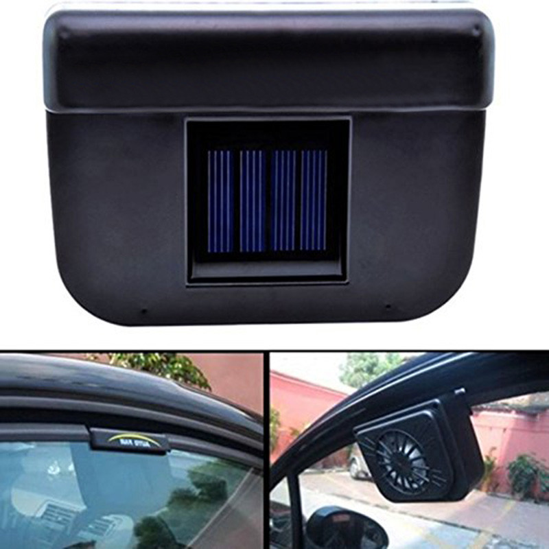 ABS Solar Powered Car Window Windshield Auto Air Vent Cooling Fan System Cooler^