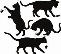 Criativo Gato Rato Vinyl Mural Adesivo de Parede Decalque Da Parede Animais Coleção de Mouser Gatos Pet Shop Janela de Vidro Decoração de Casa