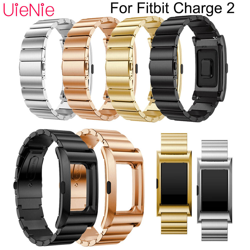For Fitbit Charge 2 smart watch frontier classic Stainless steel strap replacement bracelet For Fitbit Charge 2 Strap dial in Watchbands from Watches
