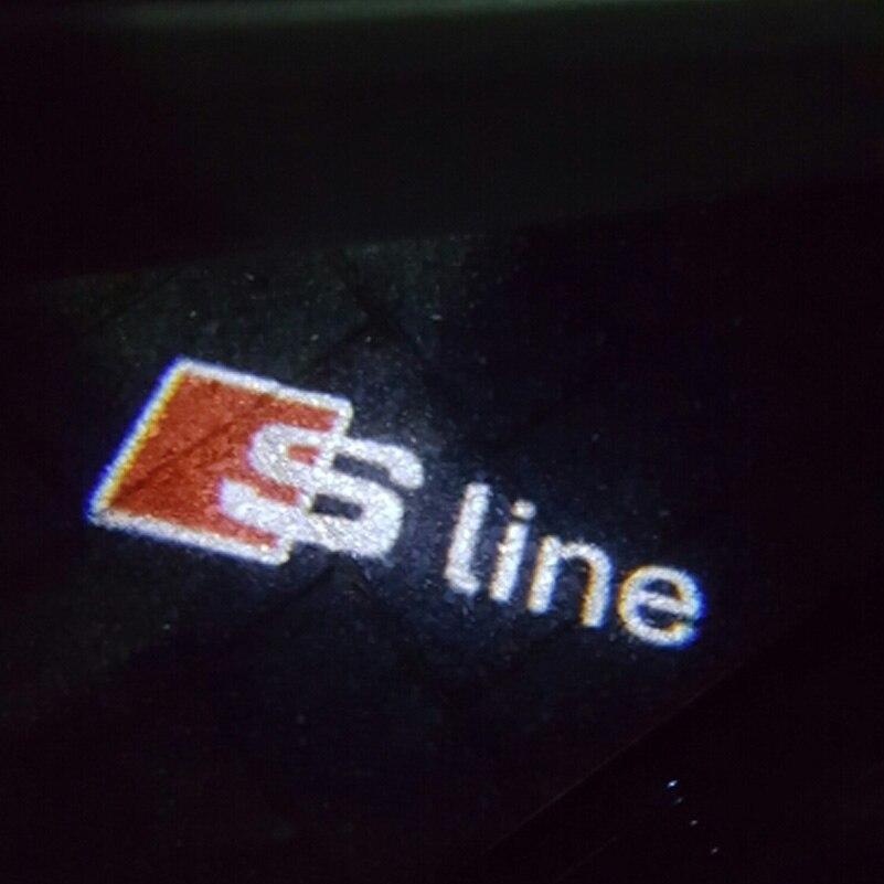 2Pcs/lot LED Car Door Welcome Light Laser Projector Logo Lamp For Audi A3 S3 A4 S4 B6 B7 A6 S6 A8 Q7 S Line Quattro