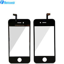 Netcosy 10Pcs/Lot For iphone 4s Touch Screen Digitizer Front Touch Panel Glass Lens for iPhone 4 4G 4s TouchScreen Replacement