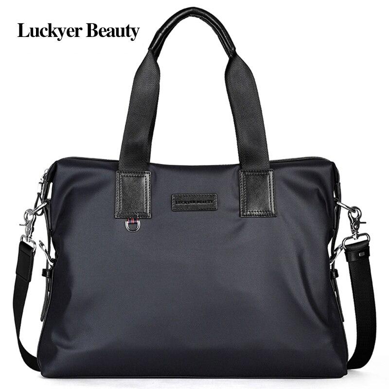 Lucky BEAUTY sacs à main pour hommes fourre-tout grande capacité mallette d'affaires ordinateurs portables Pack sacs à main en Nylon bandoulière mode sac à bandoulière