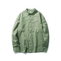 Green Summer Men Shirt Casual Long Sleeve Funny Cotton Men Shirt 2019 SlimFit Dress Streetwear Camiseta Masculina Coat Plaid Top