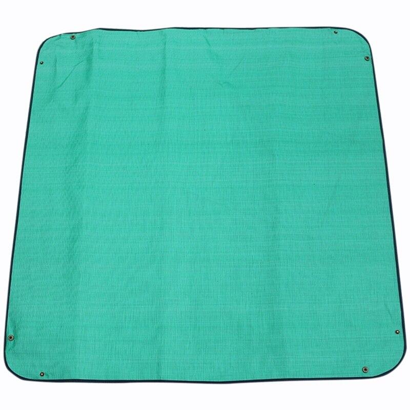 100X100 см уплотненный коврик для изменения растений, многоразовая Водонепроницаемая подушка для бассейна, квадратная подушка для садоводства, смешанный дизайн с замком для почвы, коврик с цветком - Цвет: Green