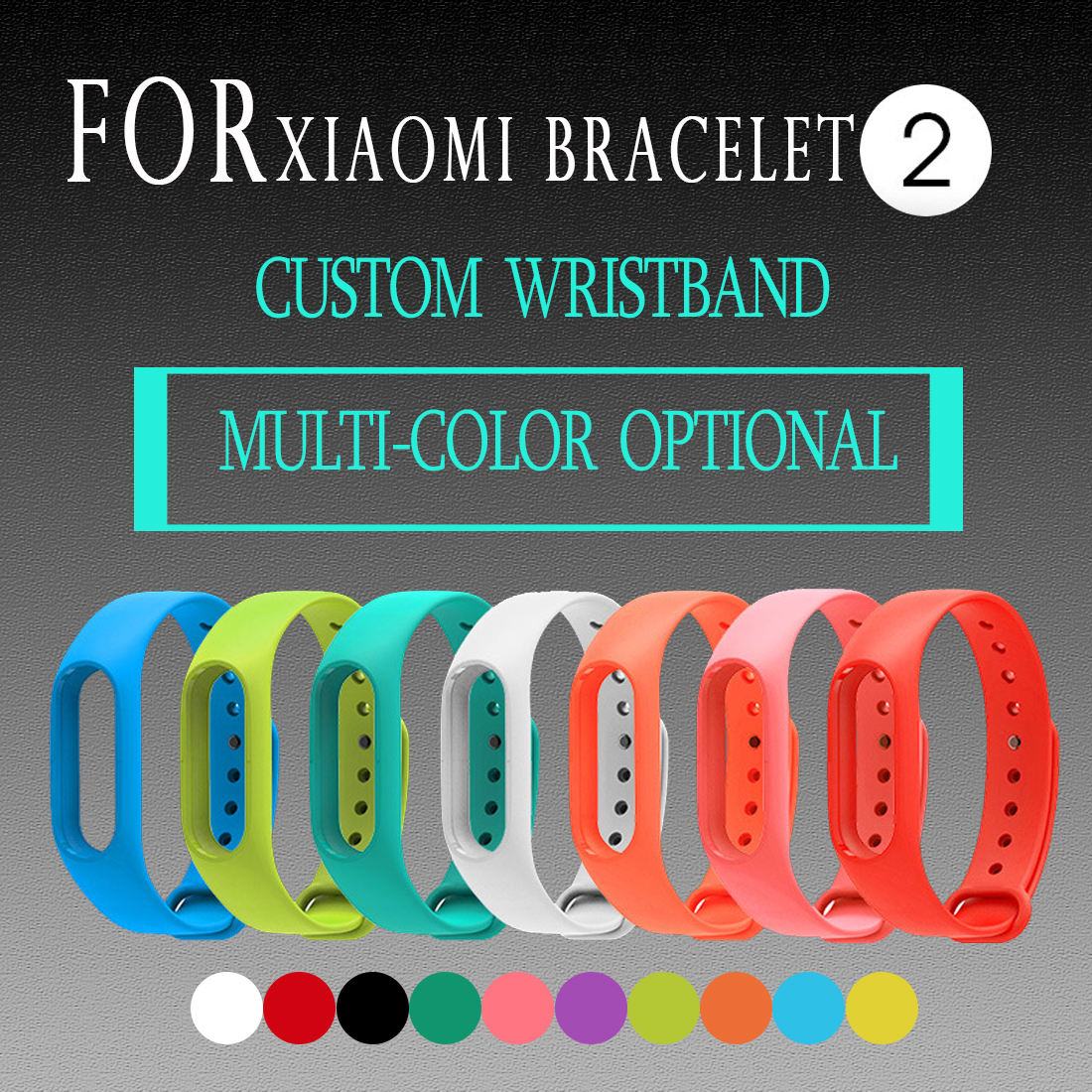 1 Pcs New Arrival Smart Wristband Band Strap For Xiaomi Mi Band 2 Smar