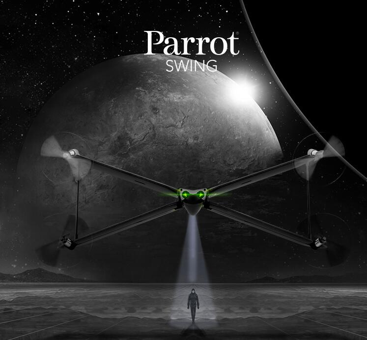 Parrot Swing speed video X-wing UAV remote control airplane remote control toy can phone Including independent remote control