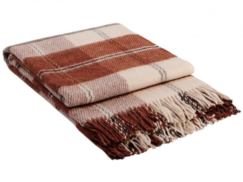 Plaid VLADI, Elf, 170*210 cm, Brown multi function check plaid pattern cashmere warm keep scarf light brown