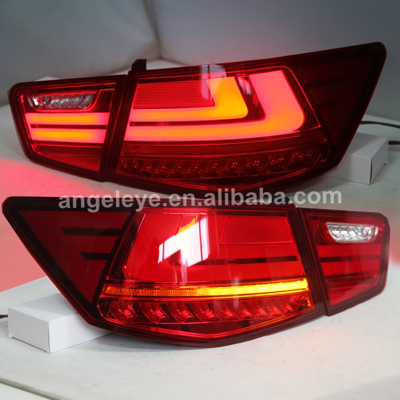 For KIA Cerato Forte Sedan LED Tail Lamp 2009 2013 year Red White Color WHV2