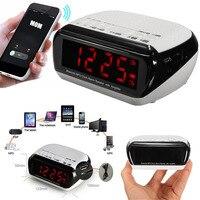 Smart Wireless Bluetooth Music Player Stereo Speaker LED Dual Alarm Clock With Digital Display FM Radio