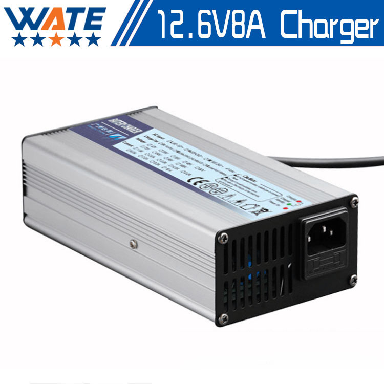 12.6V8A/12.6V 8A intelligence lithium li-ion battery charger for 3Series 12V lithium polymer battery pack good quality [li] 7 4v 4500mah lithium polymer battery dew point battery with 8 4v1a charger li ion cell