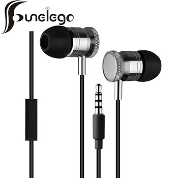 Funelego Stereo Music Earphone Portable Noise Cancelling HiFi Sport Earpiece Compatible For iPhone Android Earbuds With Micphone