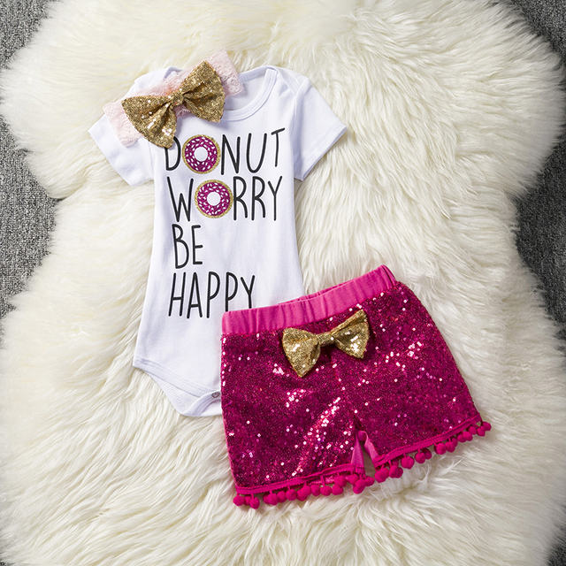 244aaa067 Baby Girl Clothing Sets Gold Shiny Clothes For Toddler Girls 3 6 9 12 18 24  Months Summer Infant Outfits Wear Tassel Bebes Sets